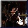 Saldatura a elettrodo rivestito di un bocchello testata air cooler in acciaio